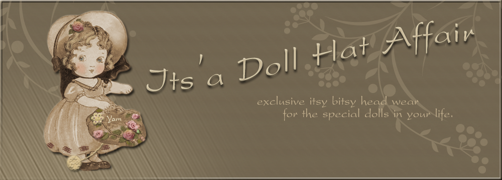 Exculsive doll hats and fascinators for BJD.
