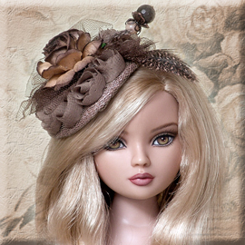 Brown doll hats