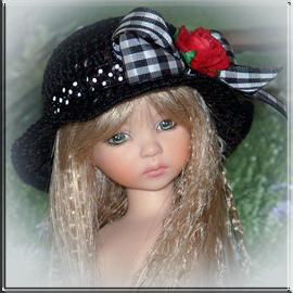 Dianna Effner Mary Mary Quite Contrary doll hat