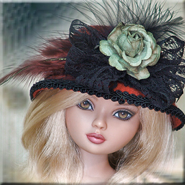 Red doll hats